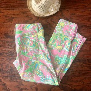 Lilly Pulitzer Worth Skinny Jeans w/Ankle Zip